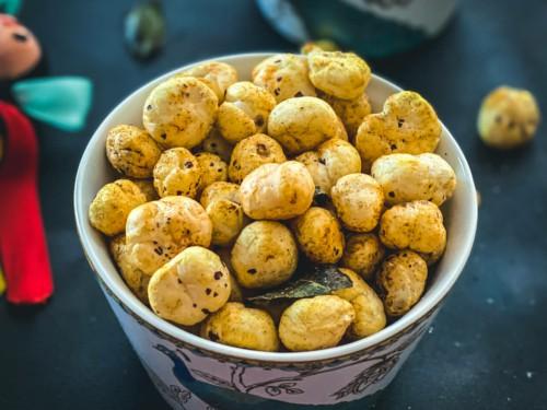 Irresistible 10-Minute Roasted Phool Makhana / Foxnuts | Simmer to Slimmer