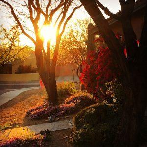 Sunset at Civano.