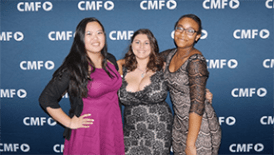 The trio poses before the CMF backdrop