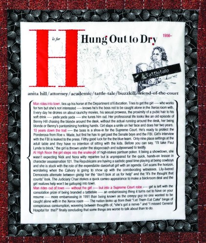 """Lauren Gillette, """"H is for Hung Out to Dry"""""""