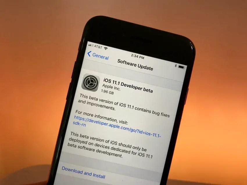 install iOS 11.1