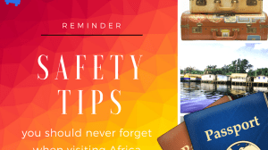 safety tips for africa