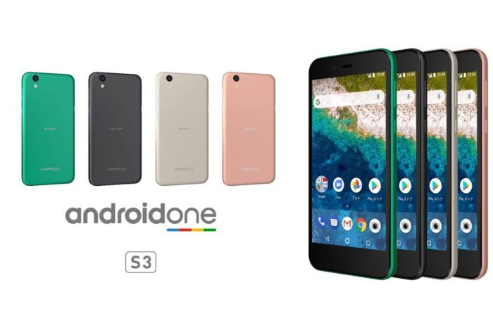Sharp S3 with Android One OS, Snapdragon 430 SoC