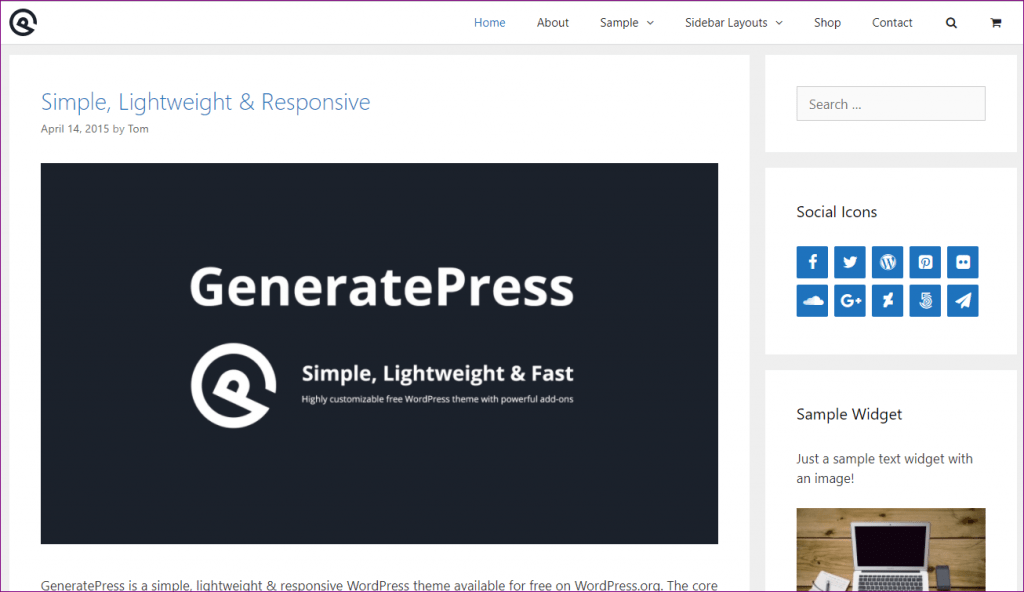 generatepress demo 1