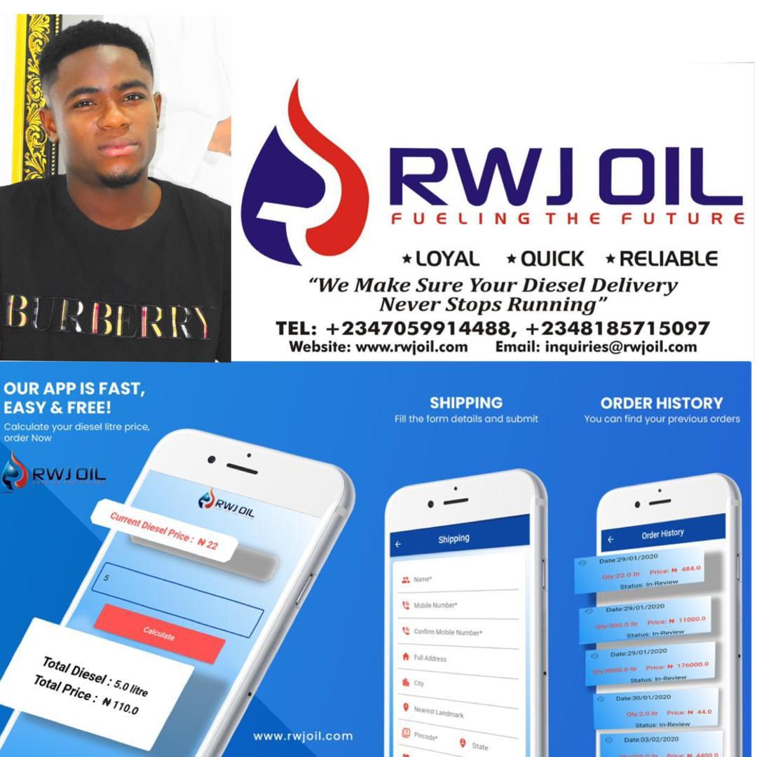 Mobile App For RWJ Oil Diesel