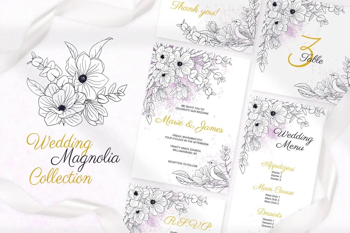 Magnolia-Wedding-Invitation-Cards-Graphics-1