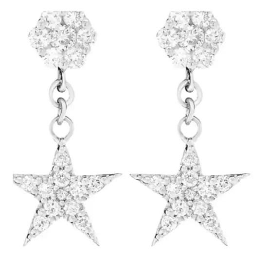 Star Dangling Cluster Earrings