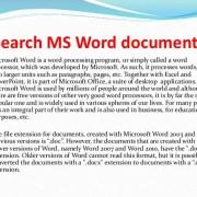 SEARCH-MS File