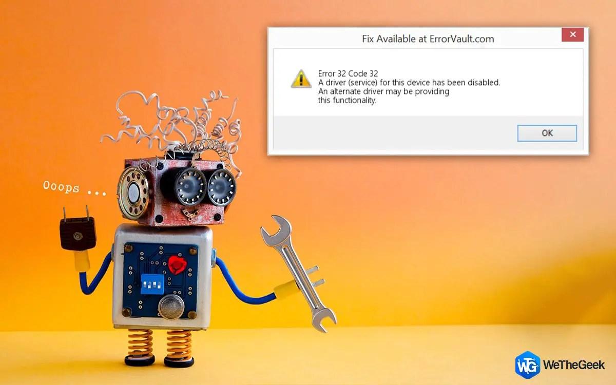 Code 32 Error