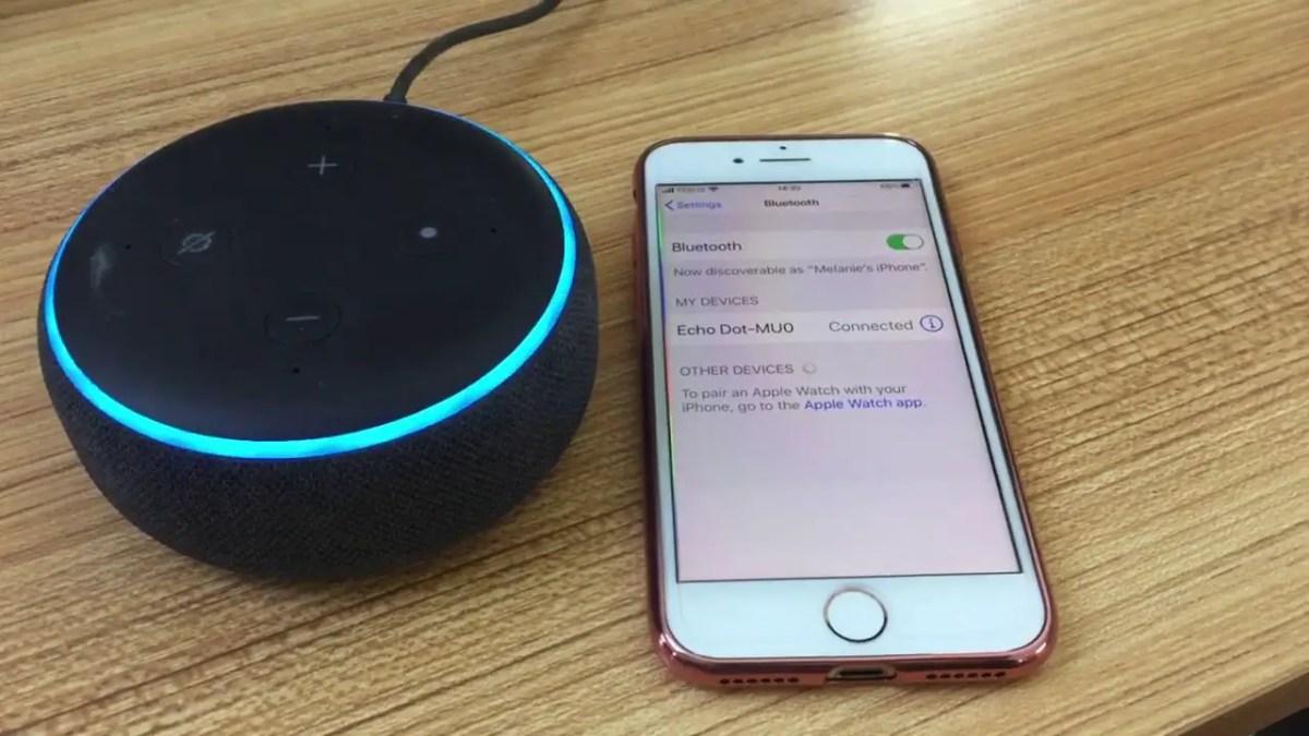 Echo Dot to an iPhone