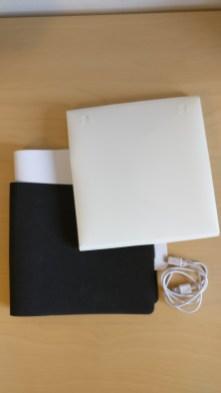 Fotostudio samt Hintergründen und USB Kabel zum bepowern der LED Leiste