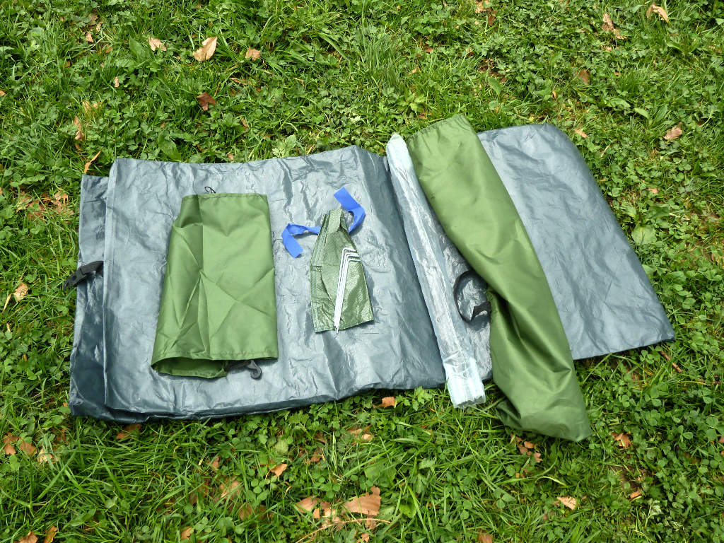 Costway-1kg-Kuppelzelt-Ausgepackt