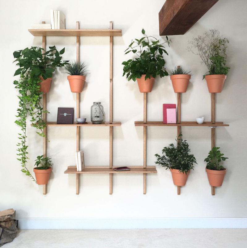 decoration murale et etageres pour 8 pots de fleurs xpot compagnie
