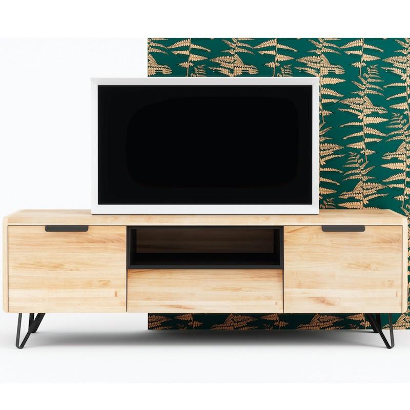 meuble tv bliss en chene massif by cactus