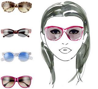 ochelari de soare pentru forma fetei in forma de inima