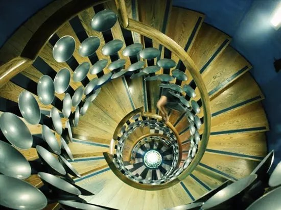 The Beautiful internal staircase at The Magic Circle.