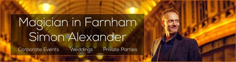 Magician in Farnham, Simon Alexander, banner image
