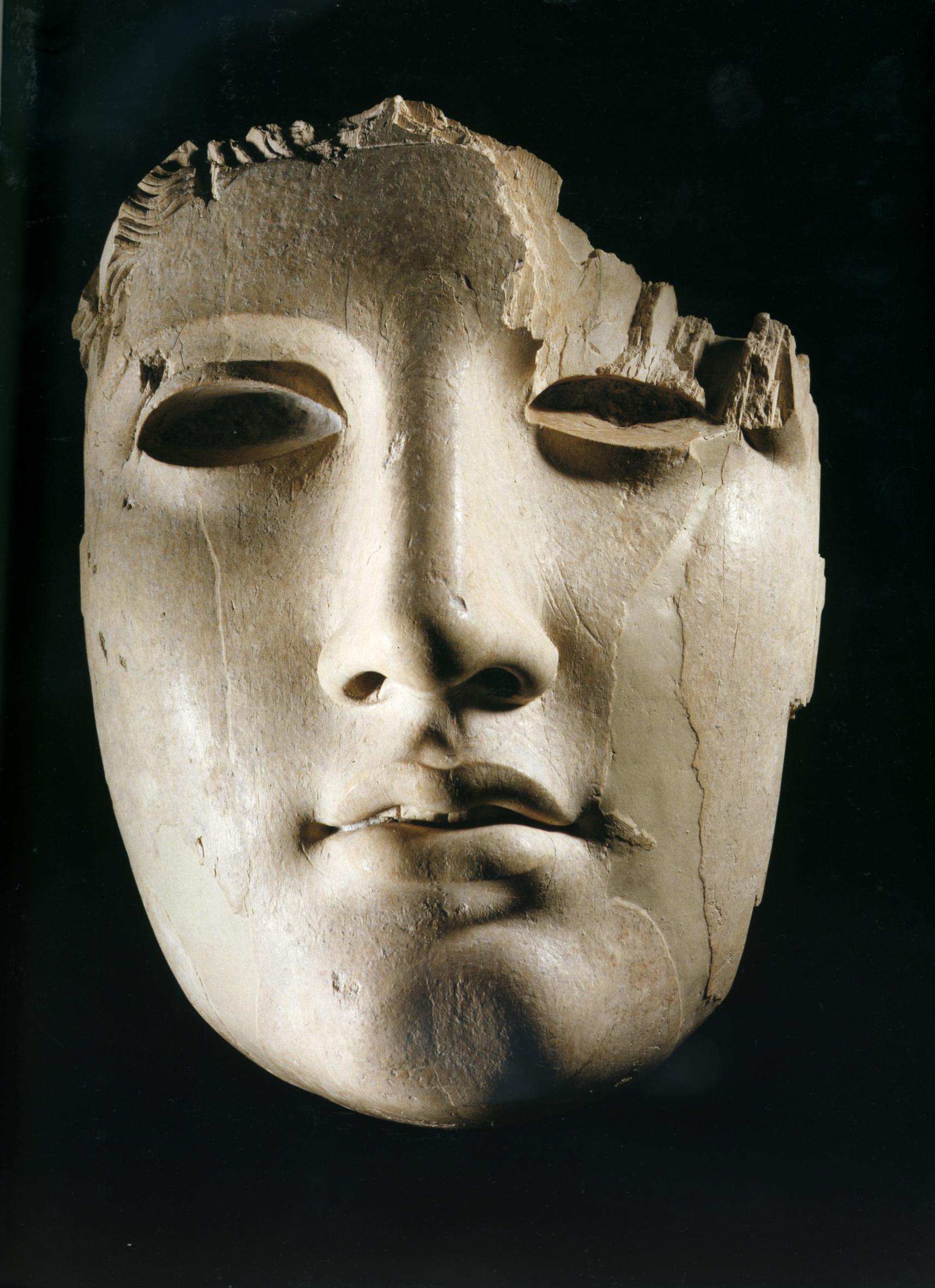 maschera di avorio II sec a.C.