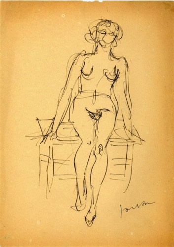 Lucio Fontana, nudo di donna