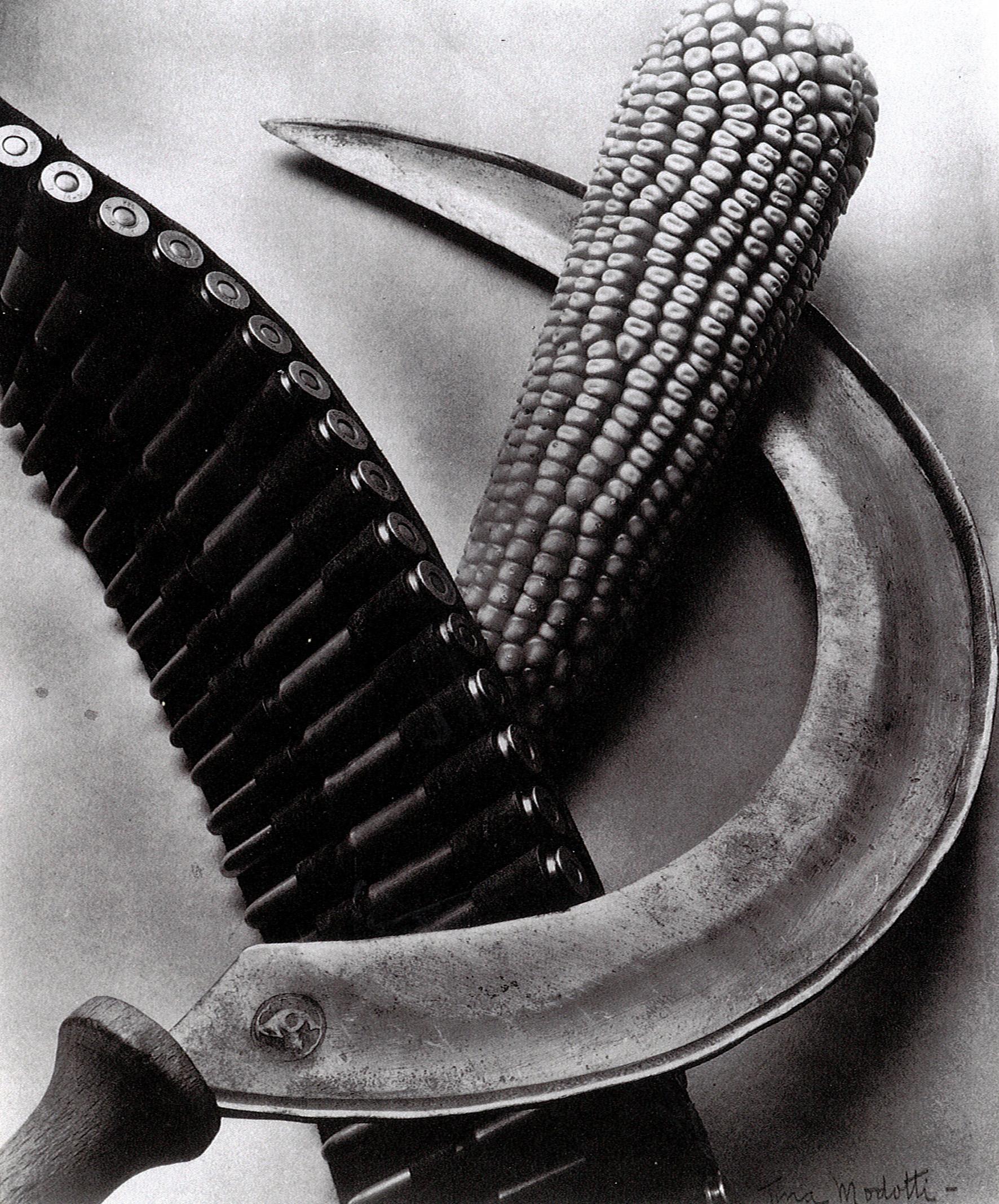 Tina Modotti,Bandolier, Corn, Sickle, 1927