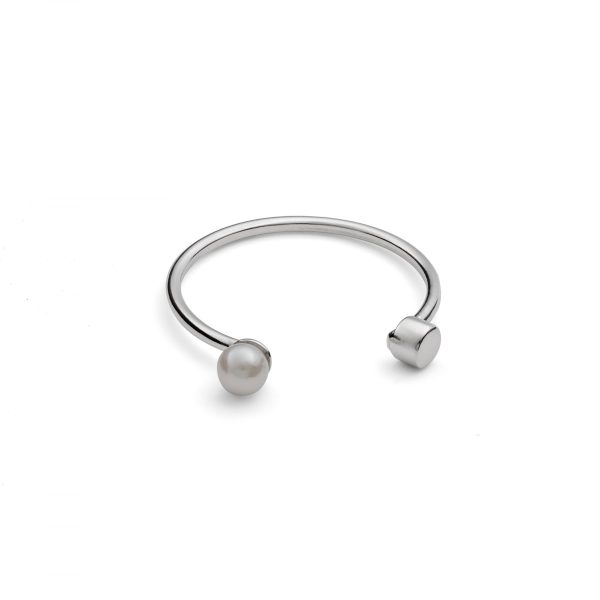 White Pearl Dot Ring