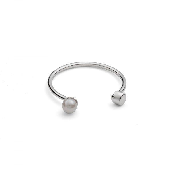 White Pearl Dot Ring