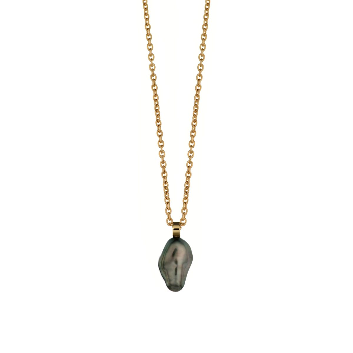 TAHITI KESHI PEARL NECKLACE – 18K GOLD