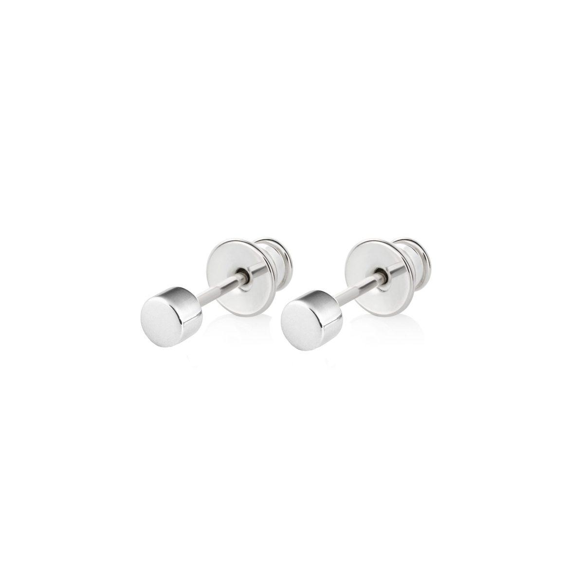 Samojauskaite_Regular Dot Earrings Silver