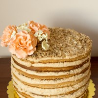 Медена торта с дулсе де лече и маскарпоне
