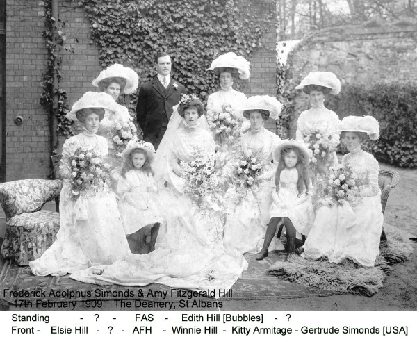 Simonds FA 1909 Wedding group