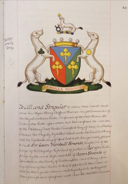 Simonds GT Coat of Arms