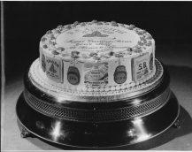F A Simonds, jubilee cake 1952