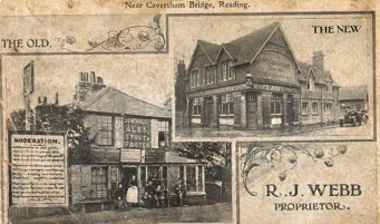 Reading, Caversham Bridge, The Moderation. 1860's & 1894