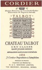 Chateau Talbot 1955 Simonds
