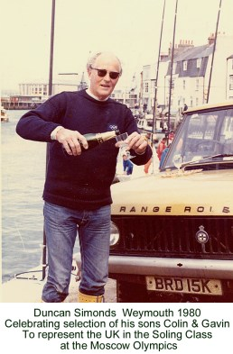 Celebrating Soling succes in 1980