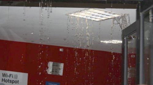 Raining inside. Photo courtesy of Juliana Main.