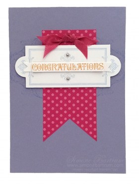 Layered Labels Congratulations card