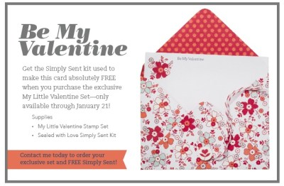 Free Card Kit with purchase of the limited edition 'My Little Valentine' stamp set