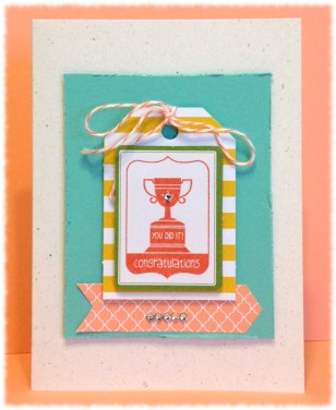 Stampin' Up! Tag It stamp set: Congratulations card.