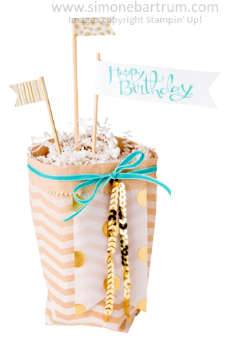Cute Treat Bag. Value Bundle of supplies available from www.simonebartrum.com.