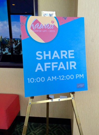 Share Affair - Stampin' Up! Grand Vacation Incentive Trip Hawaii 2015