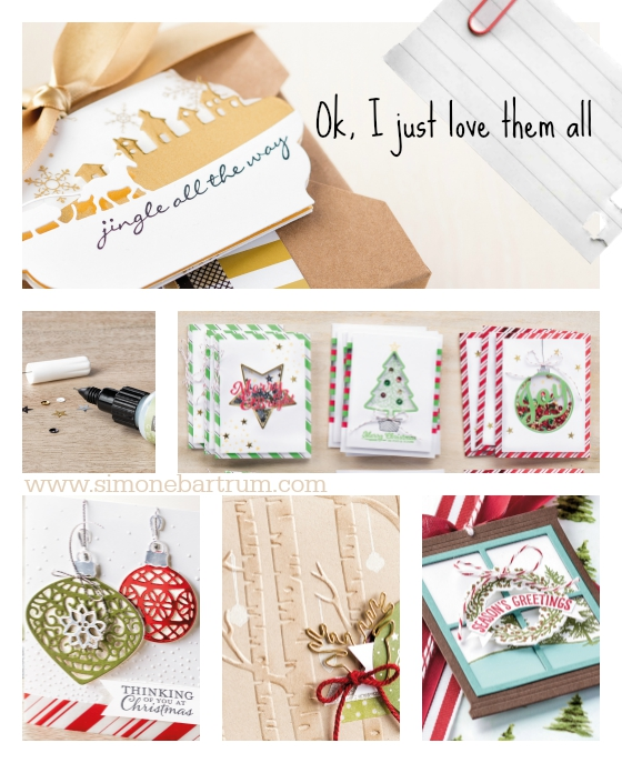 My favourites from the new Stampin' Up! Holiday Catalogue: I just love them all