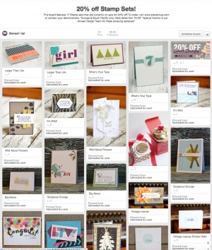 20% off select stamps (Australia) Pinterest Board