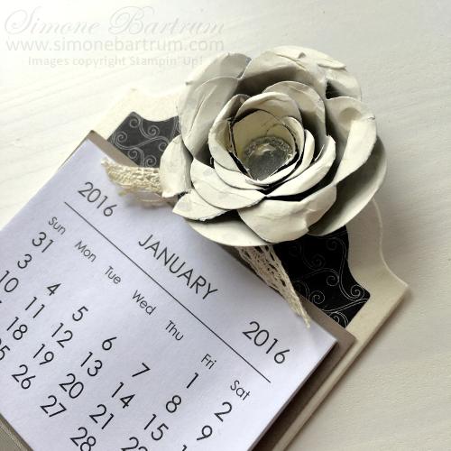Spiral Flower Die Mini Calendar Magnet. From www.simonebartrum.com