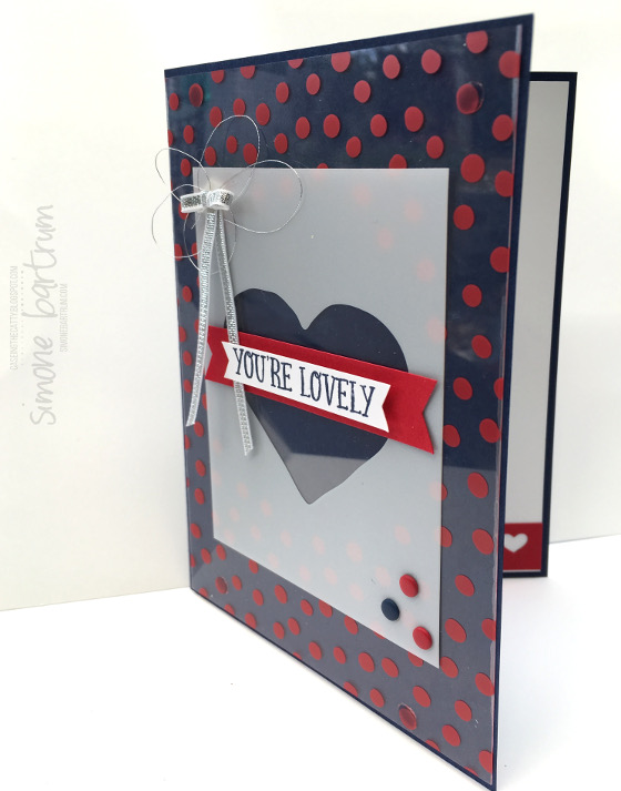 CTC66: You're Lovely. For the CASE-ing the Catty Sale-a-bration blog hop. This card uses some of the acetate cards from the Memories in the Making Project Life specialty card collection. Created by Simone Bartrum.