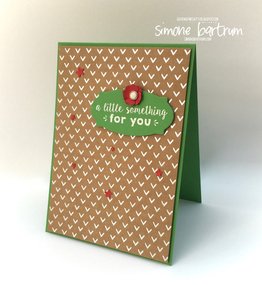 A Little Something Card - Shine On Specialty Paper by Stampin' Up!