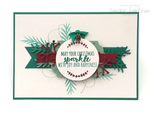 Card featuring Christmas Pines (by Stampin' Up!)