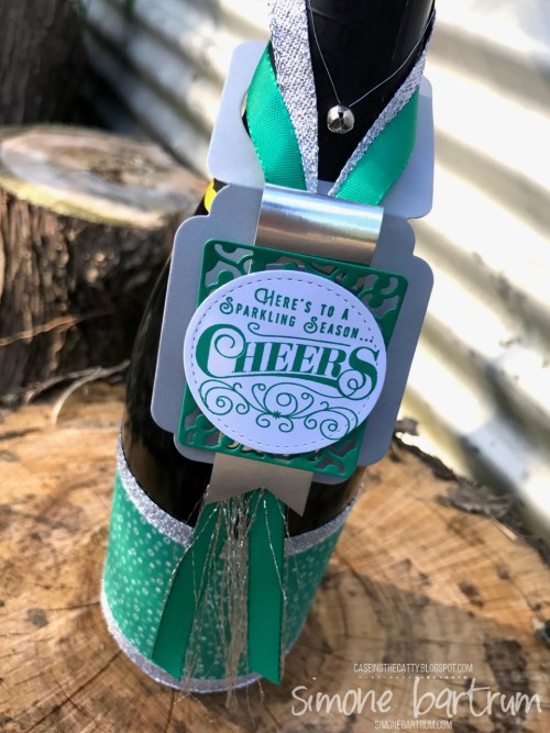 Here's to Cheers Bottle Tag - www.simonebartrum.com
