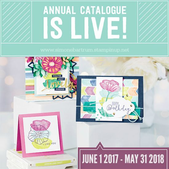 NEW Annual Stampin' Up! Catalogue is now live (2017-2018) stampin up catalogue australia