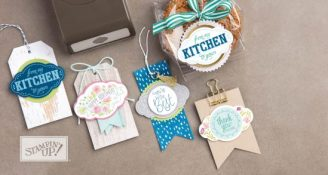 Label Me Pretty stamp set and punch bundle - from page 27 of the new 2017-2018 Stampin' Up! annual catalogue